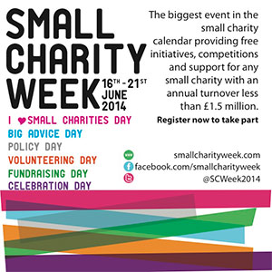 Small Charities Week advert